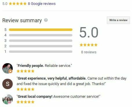 Freeman and Woolsey Well Services Google Review